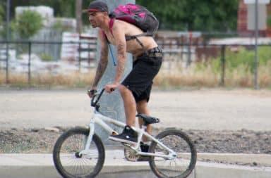 Drug dealer riding a bike