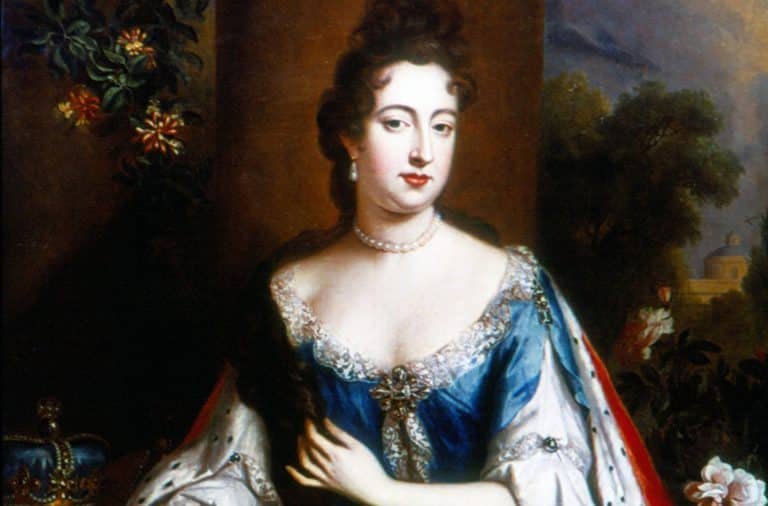Painting of a young European queen
