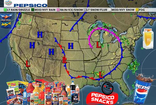 Today National Weather Map.Today S National Weather Forecast Brought To You By Pepsico Points