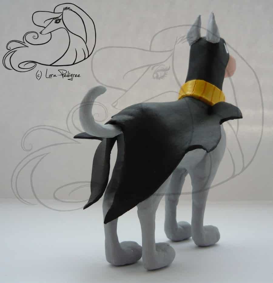 Ace the Bat-Hound sculpture