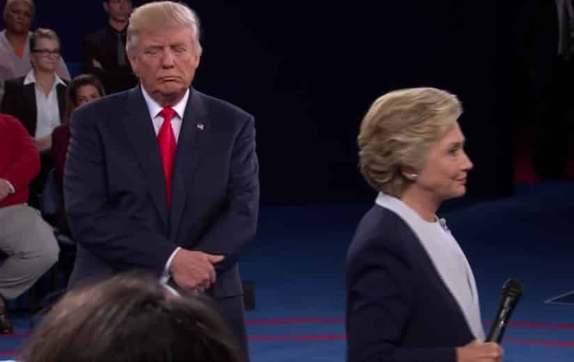 Hillary Clinton and Donald Trump in St. Louis at the second presidential debate