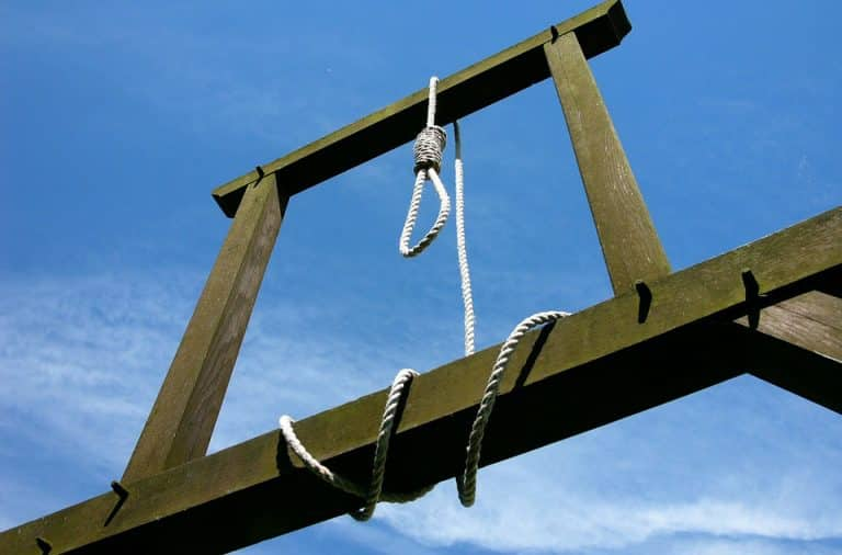 Gallows with a noose