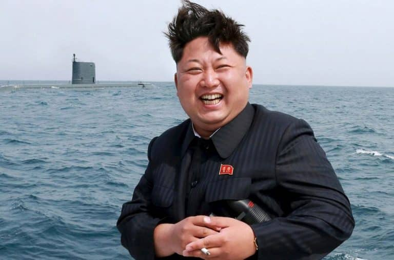 Kim Jong Un by the ocean