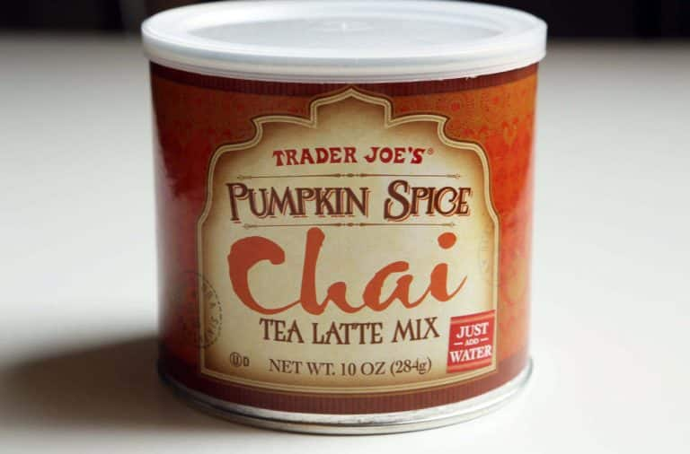 Pumpkin Spice Chai Latte from Trader Joe's grocery store