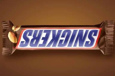Snickers misspelled