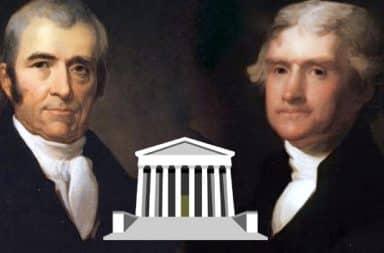Jefferson and Marbury on Supreme Court case