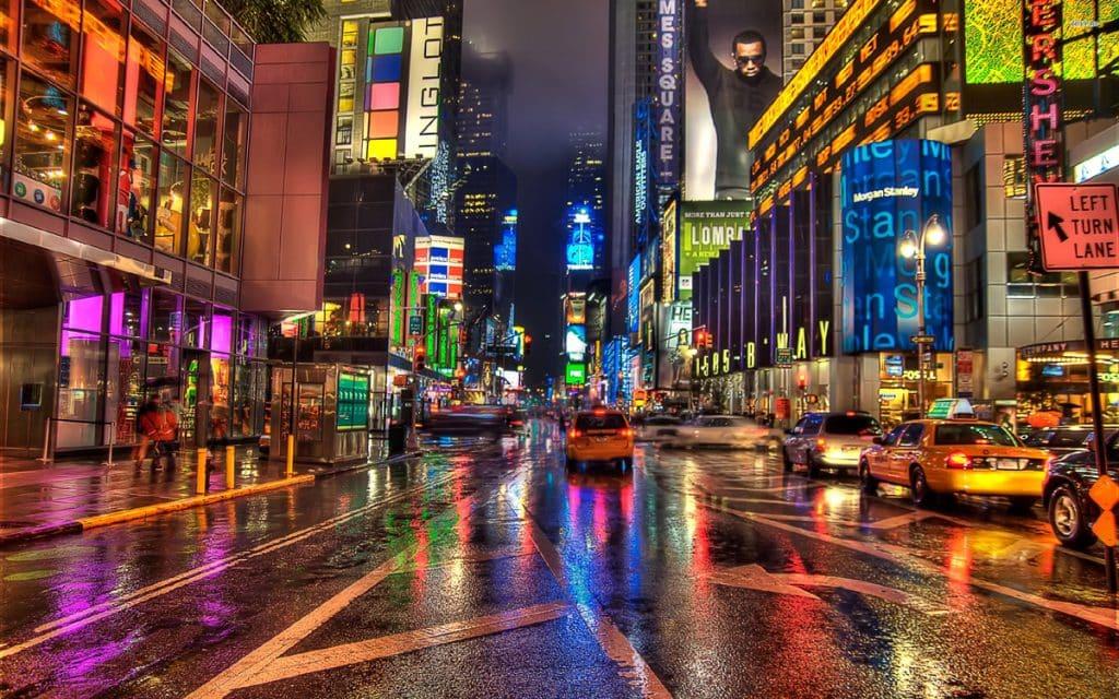 New York City neon lights