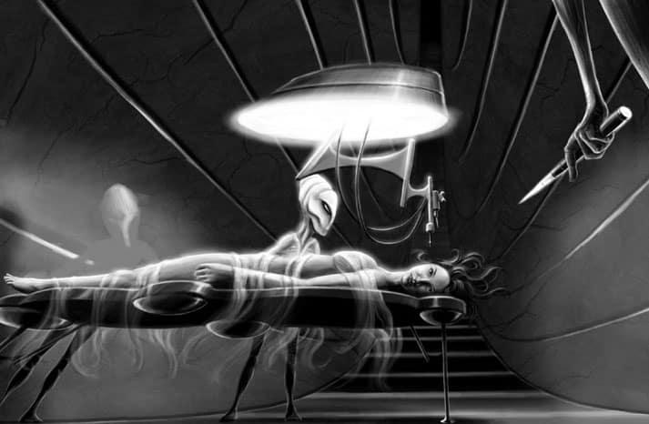 Aliens probe at the dentist