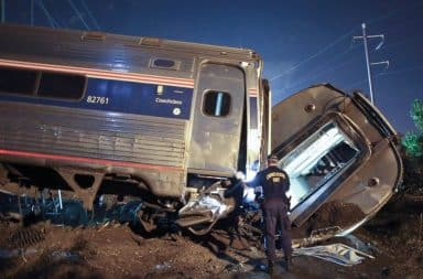 Amtrak train derailed and crashed