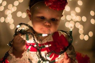 Weird baby Christmas card