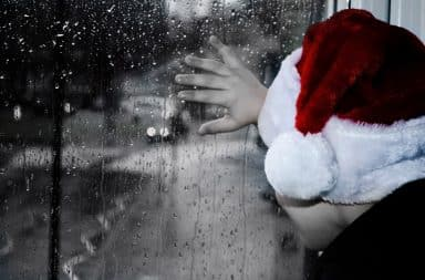 Sad and rainy Christmas