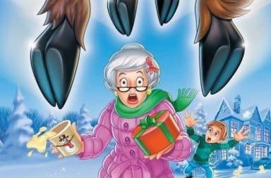 Grandma facing reindeer hooves
