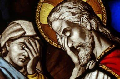 Jesus facepalming