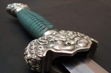 Lion dagger handle