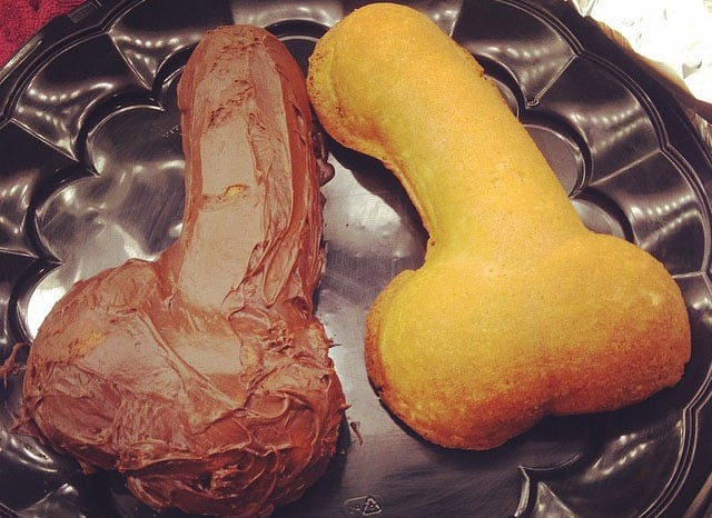 Penises in cake pan