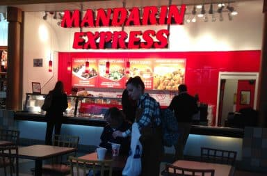 Chinese mall food - Mandarin Express