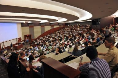 College auditorium speech