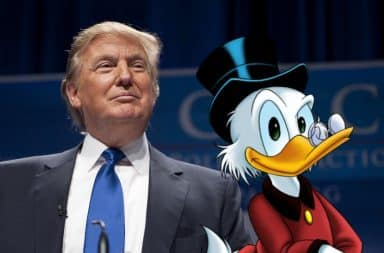 Donald Trump and Scrooge McDuck