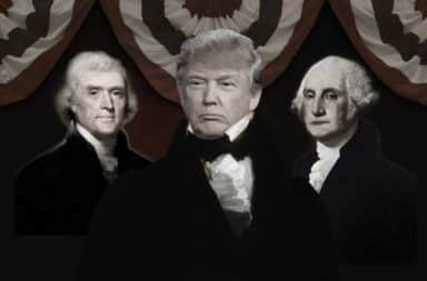 Founding Fathers with Donald Trump