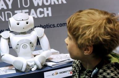 Robot and child - generation of the future