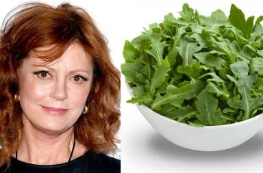Susan Sarandon and arugula