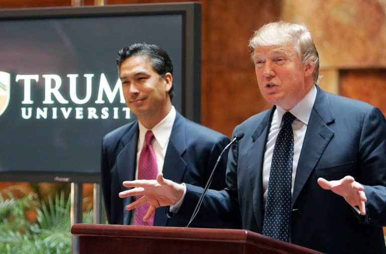 Trump University podium