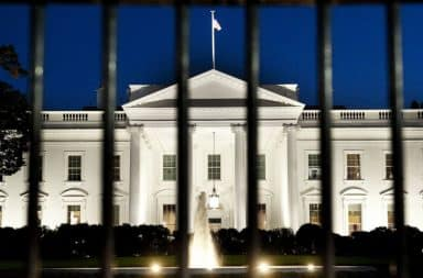 White House fence bars around perimeter