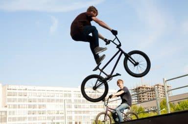 Kid on BMX bike
