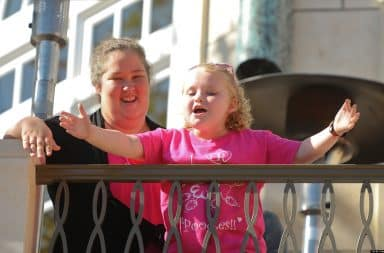 Honey Boo Boo at the White House balcony