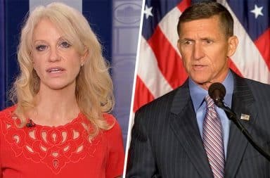 Michael Flynn and Kellyanne Conway