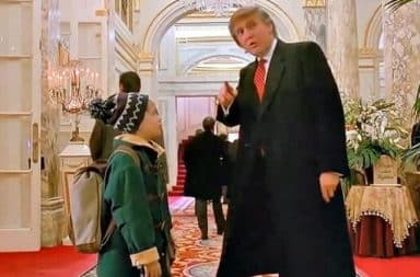 Donald Trump cameo inside the Plaza hotel in Home Alone 2: Lost in New York