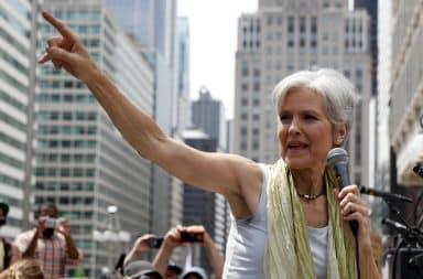 Jill Stein finger pointing speech