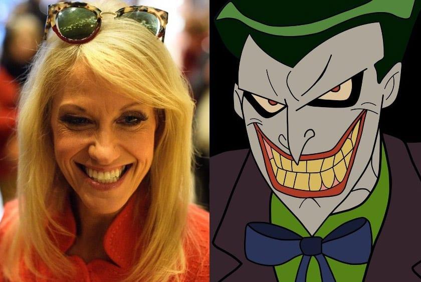 Kellyanne Conway Defends The Joker, Dr. Evil and Jafar on CNN