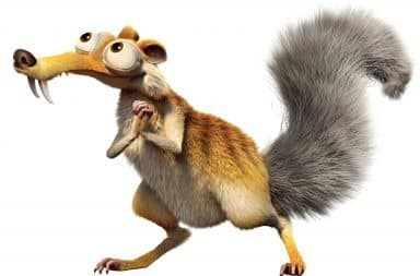 Scrat begs with his hands together