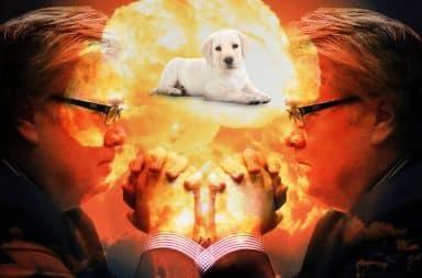 Steve Bannon kills puppies