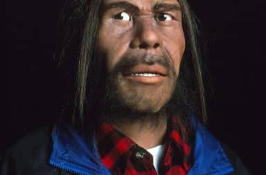 neanderthal man in modern fashion