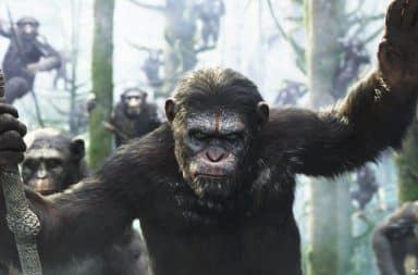 Mad ape in Planet of the Apes