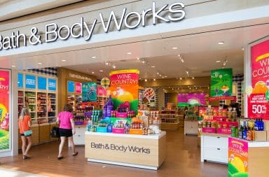 Bath and Body Works store facade at the mall
