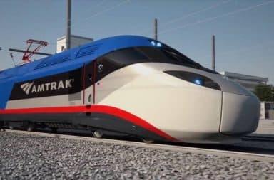 Futuristic Amtrak train car