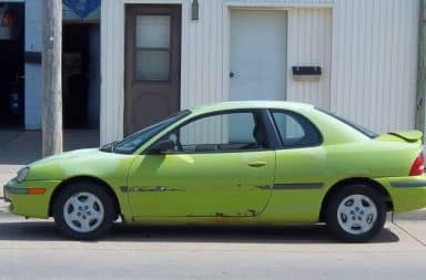 1994 Dodge Neon in lime green color