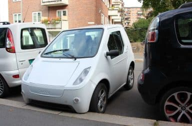 Small car parking space