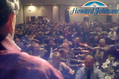 Hypnosis show at Howard Johnson hotel