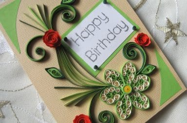 Birthday card for mom with fancy design