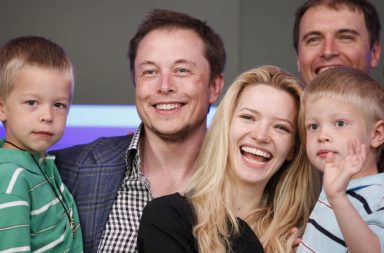 Elon Musk with children