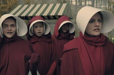 Four women in The Handmaid's Tale including Offred