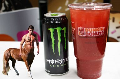 Dunkin Donuts Energy Punch powered by Monster Energy Drink