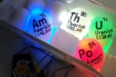 Glowing radioactive eggs