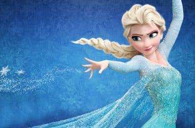 Elsa Frozen casting an ice spell
