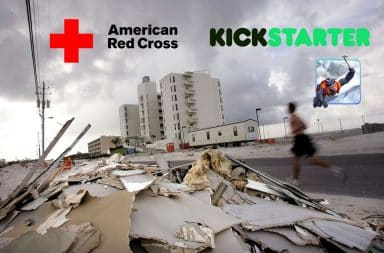 Hurricane Irma devastation Red Cross and Kickstarter funds