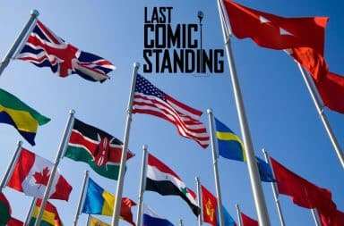 Last Comic Standing with international flags